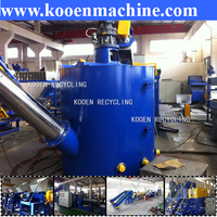 KOOEN machine to recycle plastic water bottles