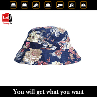China mainland custom 3D embroidery logo all kinds of wide brim flower bucket hat wholesale