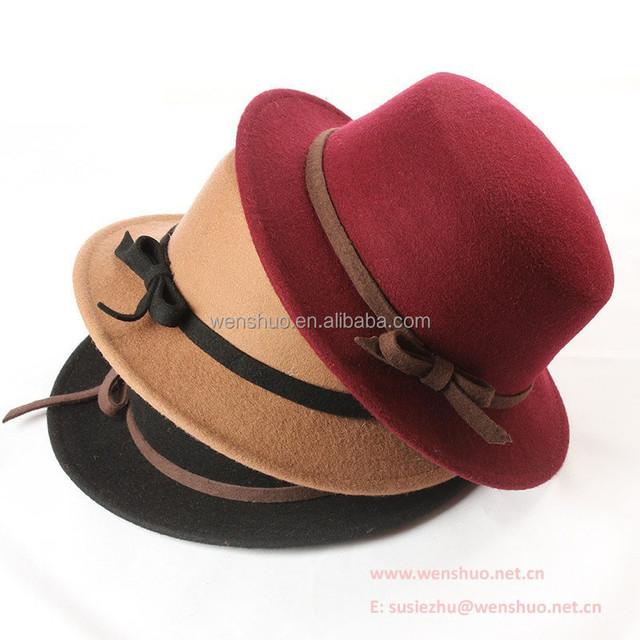 2015 Fashion Retro Flat Top Fedora Hat