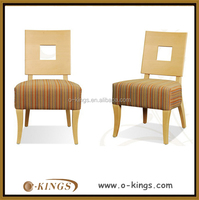 Reataurant rainbow fabric seat and back plywood chair