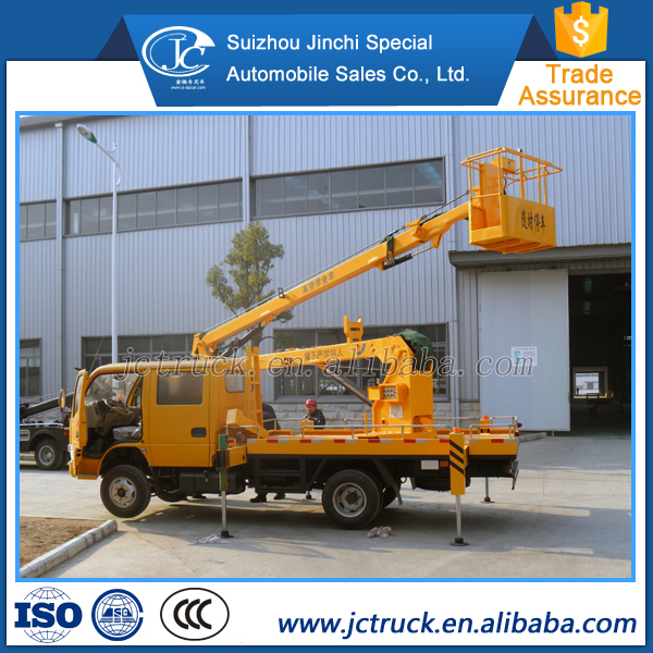 Chinese Quality small aerial working platform truck 12m man lift truck