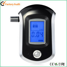 Professional Breathalyzer with Semi-conductor Sensor and LCD Display Digital Breath Alcohol Tester with 5 Mouthpieces