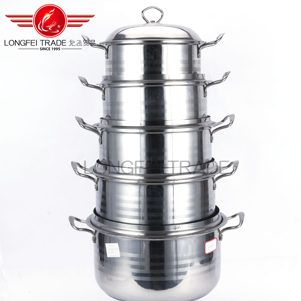 Free Sample Factory Price Modern Kitchen Cookware Non-stick Stainless Steel Handle pots & pans set