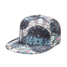 Customized Floral Snapback Hat Leather label