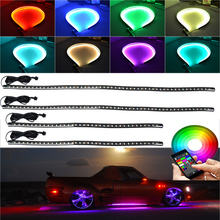 5050 SMD High Intensity LED Car Underglow Underbody System Neon Strip Lights Kit Sound Active Function and bluetooth controller