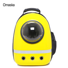 New style fashion cute cat and dog capsule carrier pet backpack