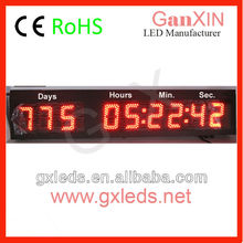 Large IP65 outdoor led temperature digital clock