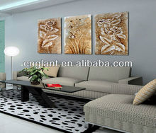 Triptych modern flower art painting on canvas