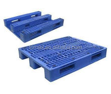 Heavy duty double faced plastic pallet for stacking