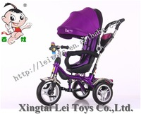 4 in 1 Air wheel tricycle bike for baby with roraty seat