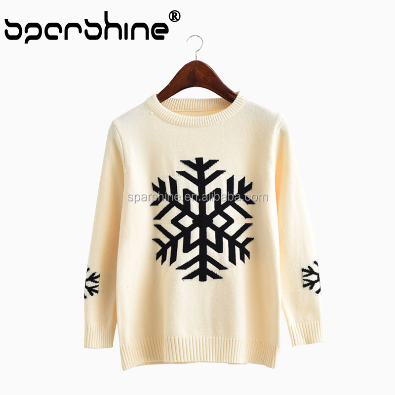 Design Of Hand Knitting Sweater Woman Sweater