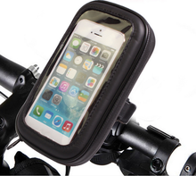 Motorcyle Scooter Electric Car Rearview Mirror Mount Holder Stand Bag Phone GPS Waterproof Case
