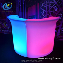 Nightclub Bar Event Home Garden Use Plastic LED Furniture LED Bar Counter