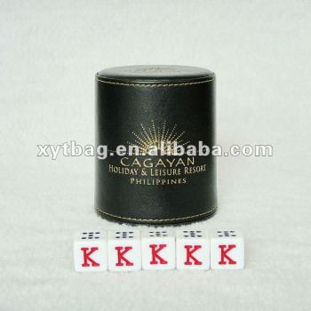 High quality leather posh bars dice cup
