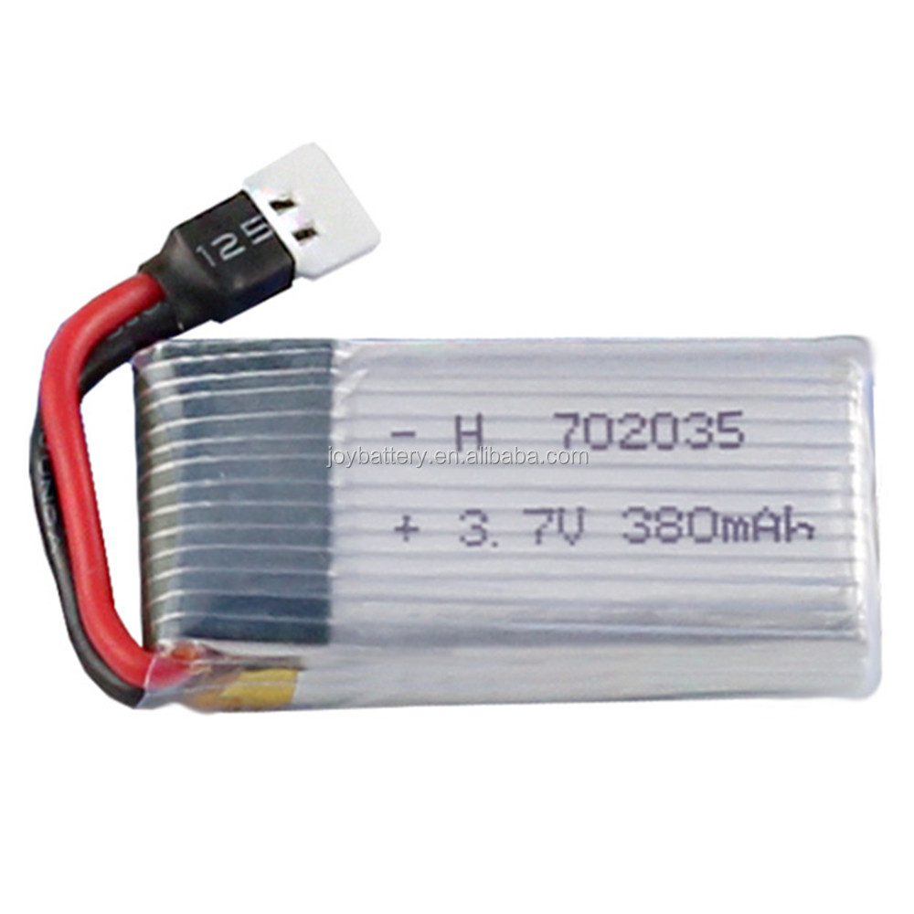 Rechargeable rc lipo 702035 3.7V 380mAh 20C helicopter battery with connector for F180 <strong>H107</strong> remote control aircraft
