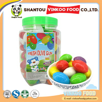 Chinese sweet olivary bubble gum for sale