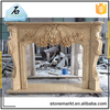 China natural stone insert decorative cultured marble fireplace surround