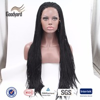 Qingdao Hair Factory Supply Wholesale Noble Synthetic Lace Front Box Braid Wig
