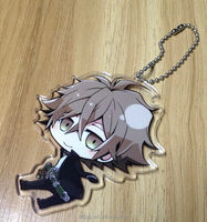 Anime custom printed acrylic charms keychain