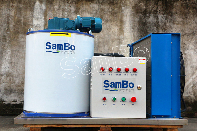 China Suppliers SamBo Commercial Used 1000KG Per Day Flake Ice Machine
