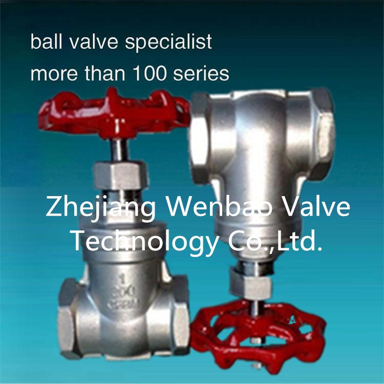 Small Size Screw End Gate Valve / 4 inch water gate valve 3 inch Zhejiang China Manufacturer