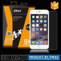 Sample Free! Brand VMAX 0.33mm 2.5D 9H Ultra Clear mobile phone Tempered Glass Screen Protector for iphone6/6s