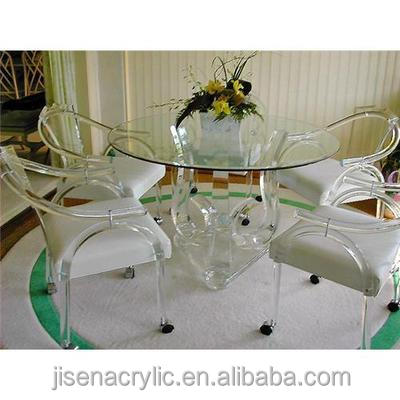 China clear acrylic round table top