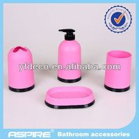 Fashion Pink And Green Bathroom Accessories