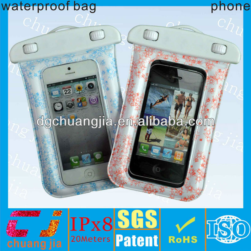 soft pvc waterproof pouch for iphone 5