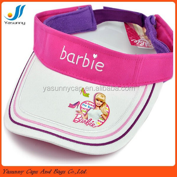 Promotion custom cotton cute sun visor for kids