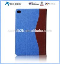 Fashional jeans leather case for ipad mini4