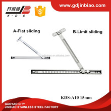 15mm Square Groove Stainless Steel Series Top-hung Limit-position Friction Stays Window Hinge(KDS-A10 15mm)