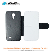 leather flip sublimation mobile phone case for samsung galaxy s4 mini
