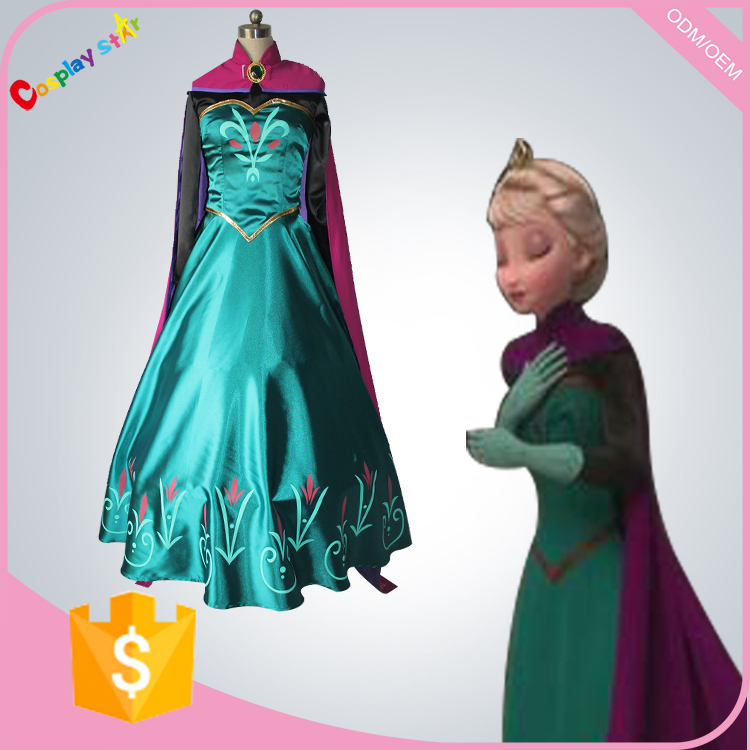 disfraz snow grow princess elsa anna costume princess anna cloak stamp cosplay costume for adult