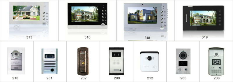 7 Inch Indoor Screen Wire Apartment Intercom Systems