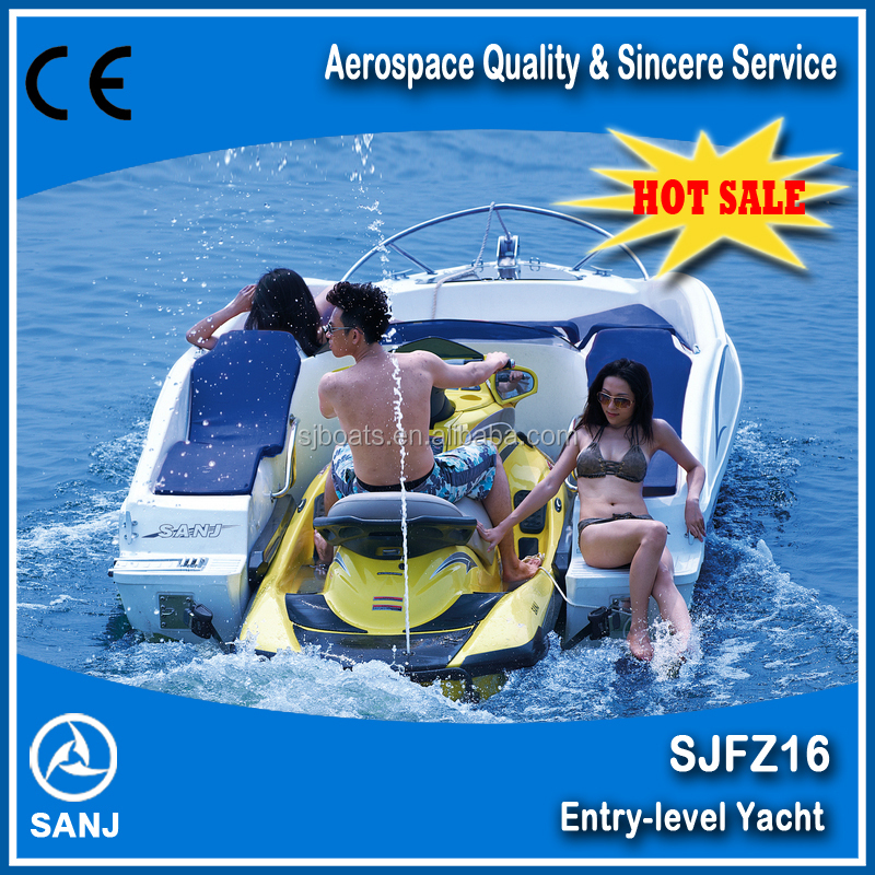2017 Chinese Fair Unique SJFZ16 jet ski boat match with 1500CC PWC with excellent quality