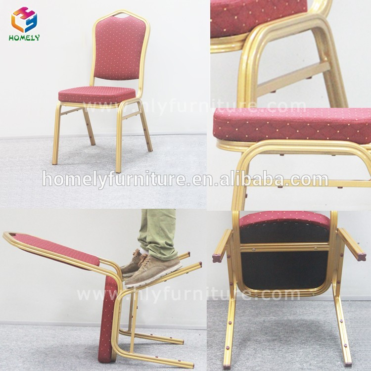 High qualiy hotel gold popular used banquet dining chair HY-B60