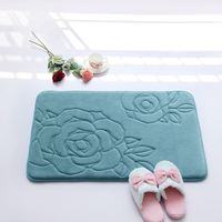 strong water absorption cat baby mat/Memory foam bath mat_ Qinyi