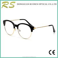 Trendy half metal half acetate round glasses frame latest spectacle frame designer glasses from China