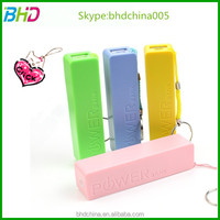 6 color universal usb external battery 2600 mah smart battery power bank charger