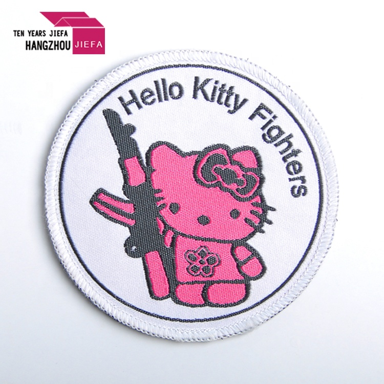 hello kitty design custom embroidery patches for clothing