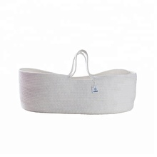 ICEBLUE HD Hot Sale Soft Natural Cotton Thread Woven Rope basket for baby sleeping