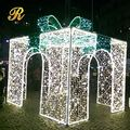 Giant christmas gift box arch light for outdoor street decoration