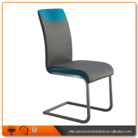 2016 Popular Split Joint Pu Dining Chair With Metal Leg