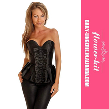 Best Selling Items Sexy Black Lace Up Fashion Outwear Corset