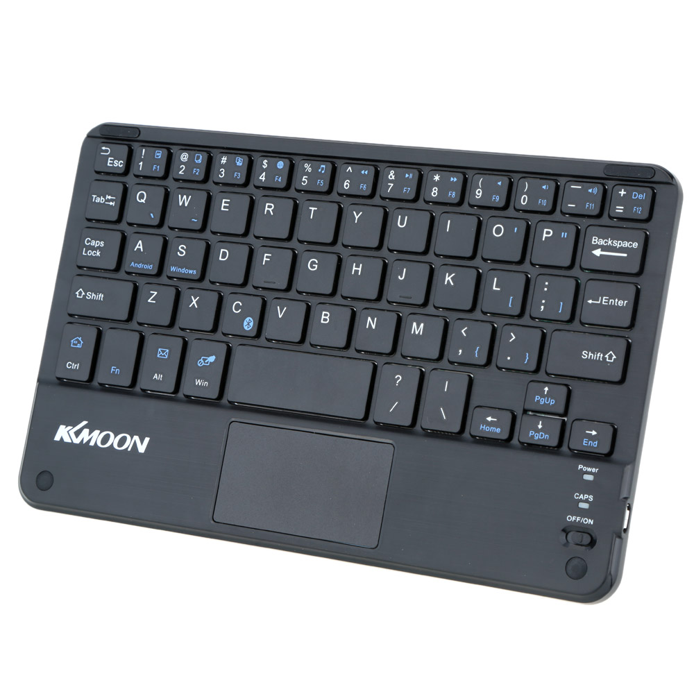 KKMOON 59 Keys Ultra Slim Thin Mini Bluetooth Keyboard with Touch Pad Panel for Android for Windows PC Tablet Smartphone