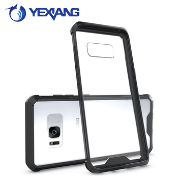 2 in 1 acrylic tpu case for samsung galaxy s8 shockproof phone cover