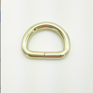new product customized brass D ring buckle for bags accessories