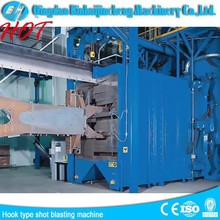 hangers pass-through shot-blasting equipment /hanging chain type play sand machine