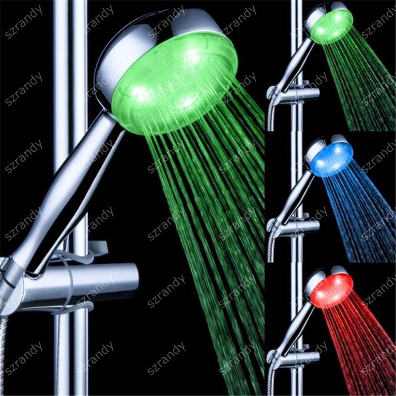 temperature sensor 3 colors led waterfall shower head LD8008-A18